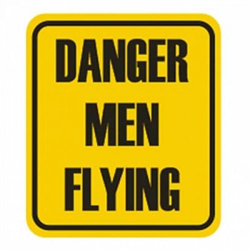 Adesivo - Danger Men Flying