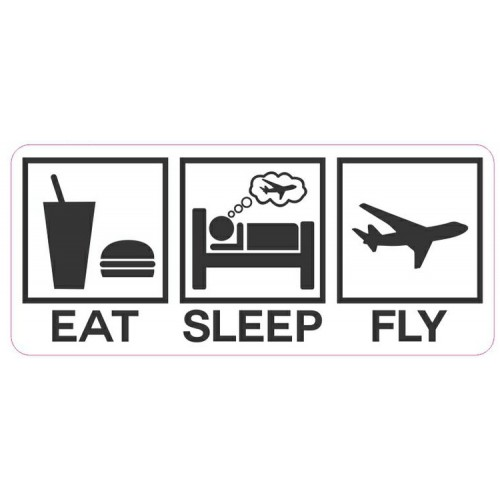 Adesivo - Eat, Sleep and Fly