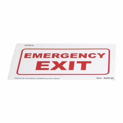 Adesivo Emergency Exit