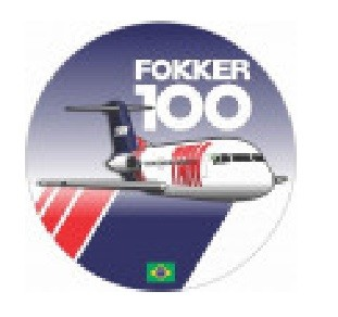 Adesivo Fokker 100 TAM