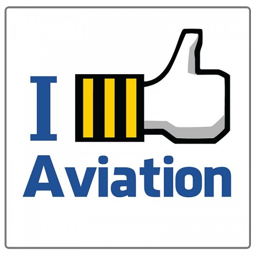 Adesivo - I Like Aviation