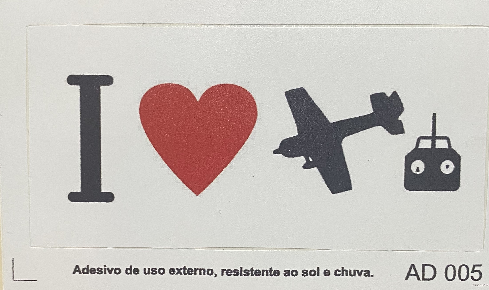 Adesivo I Love Aviation
