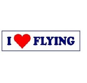 Adesivo I Love Flying