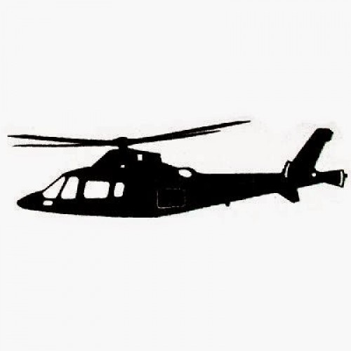 Adesivo Plotter - Helicóptero Executivo Branco