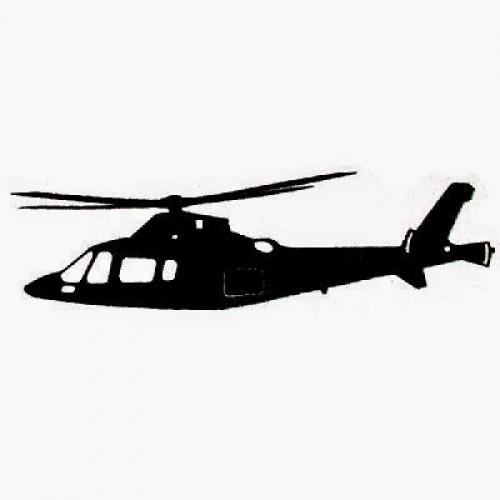 Adesivo Plotter - Helicóptero Executivo Preto