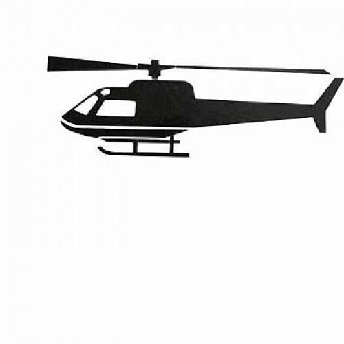 Adesivo Plotter - Helicóptero Preto