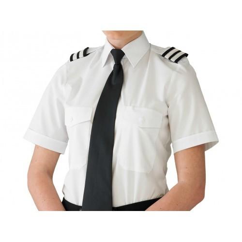 Camisa Feminina - Comprimento Extra - Manga Curta Branca