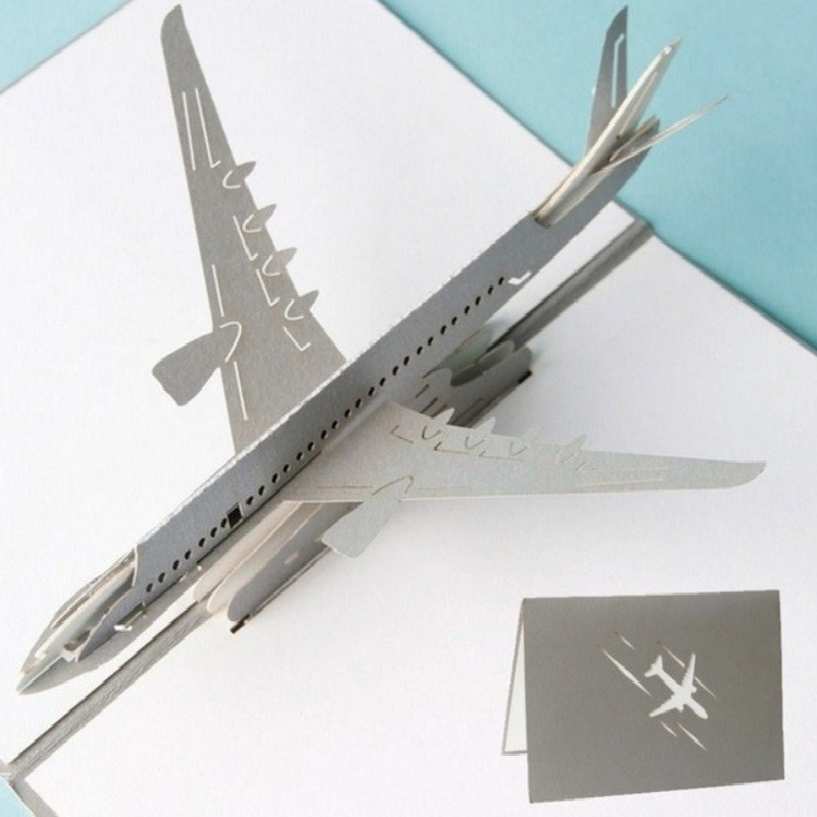Cartão Presente 3D Boeing - AeroAir (Cinza)