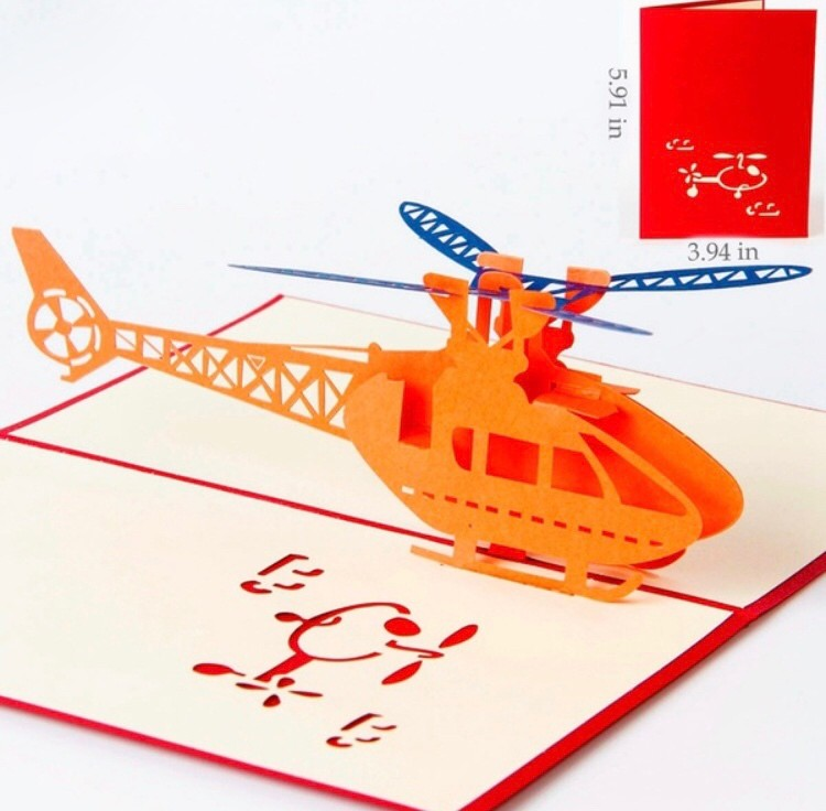 Cartão Presente 3D Helicóptero - AeroAir