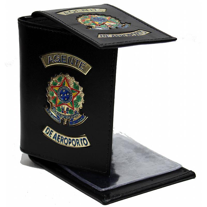 Carteira Porta Cédulas e Documentos - Agente de Aeroporto