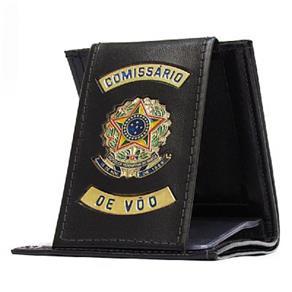 Carteira Porta Cédulas e Documentos - Comissário de Voo