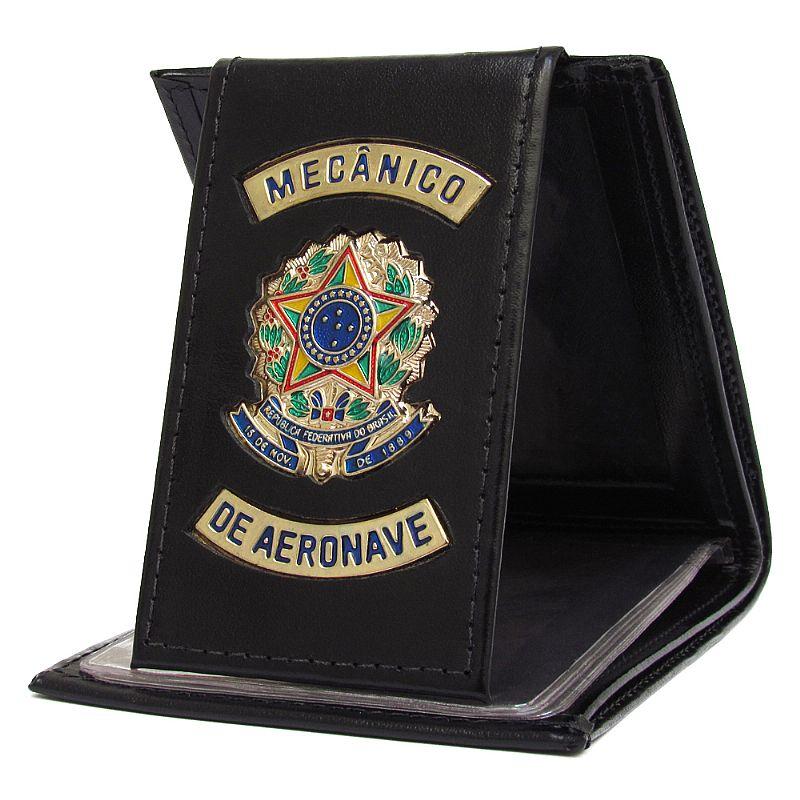 Carteira Porta Cédulas e Documentos - Mecânico de Aeronaves