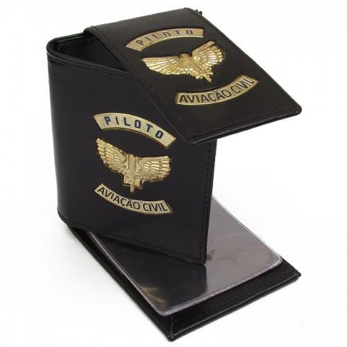 Carteira Porta Cédulas e Documentos - Piloto (Asa Dourada)