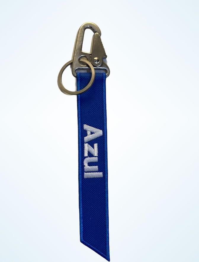 Chaveiro - Azul (Com Mosquetão)