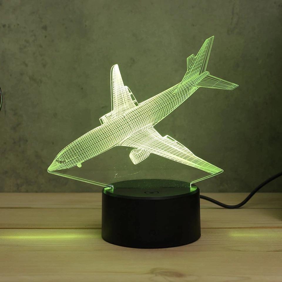 Luminária Led 3D - Commercial Airplane
