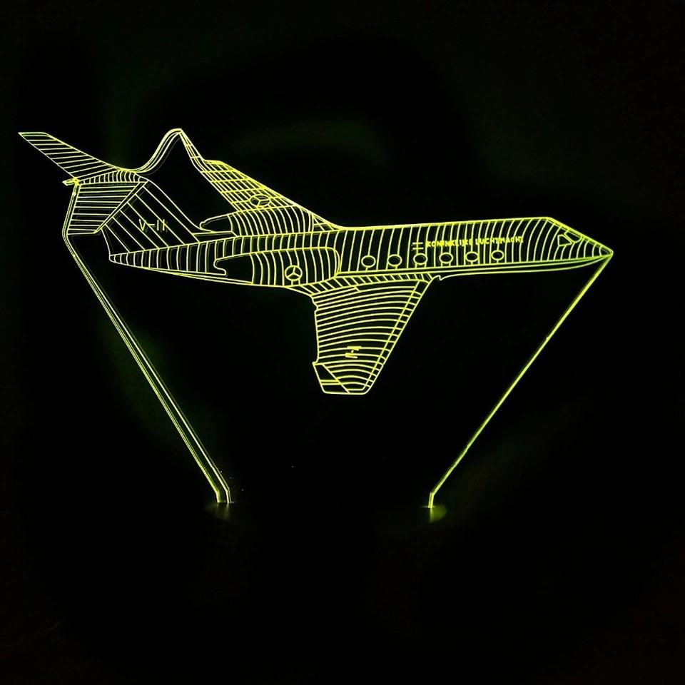 Luminária Led 3D - Jato Executivo