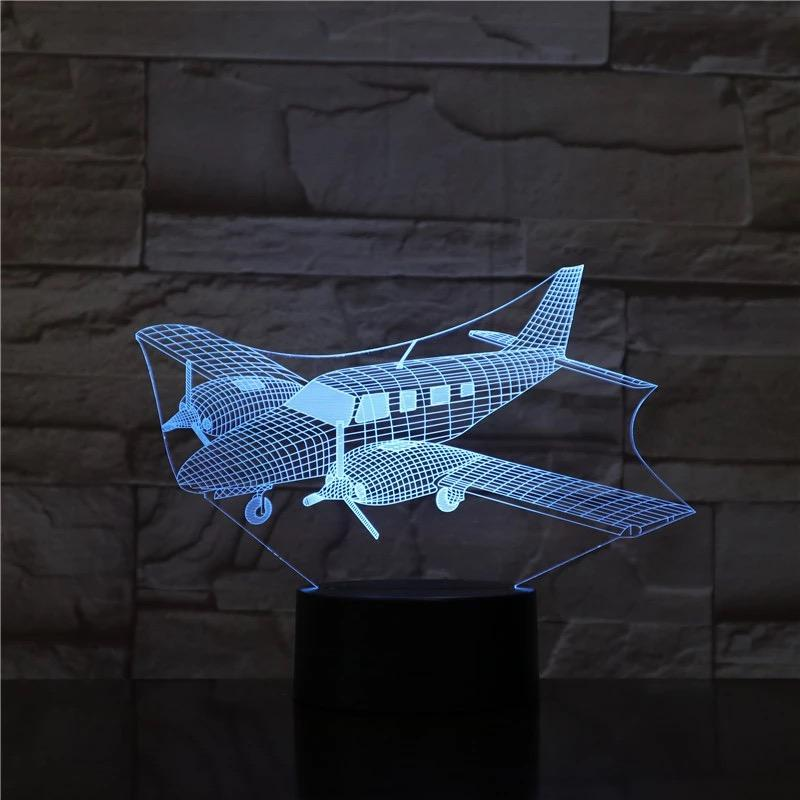 Luminária Led 3D - Turbo Hélice