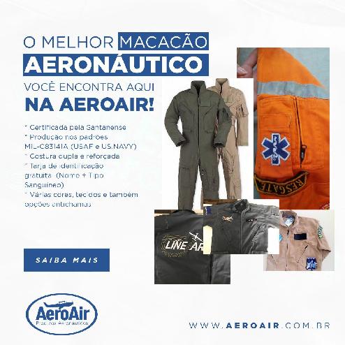 Macacão para Piloto de Helicóptero - AeroAir