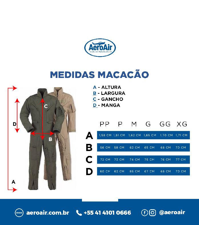 Macacão para Voo - AeroAir (Ripstop Impermeável)
