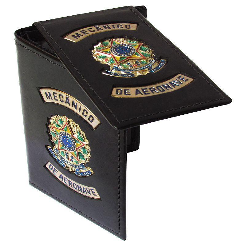 Porta Documentos (Couro) - Mecânico de Aeronave