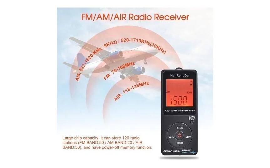 Rádio Hanrongda Hrd-767 Fm/am/airband