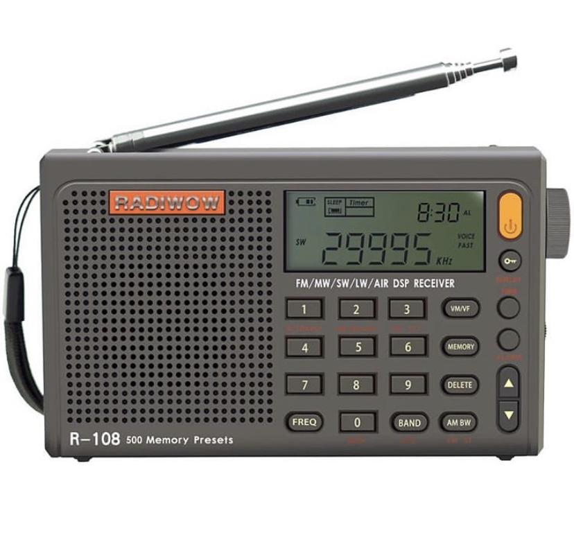 Radiwow  R-108 Com Dsp Rádio Lw/sw/mw/ar  (Aviação Piloto)