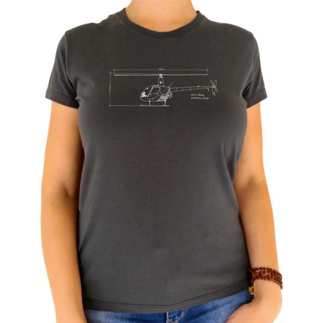 T-shirt Feminina - Croqui Helicóptero