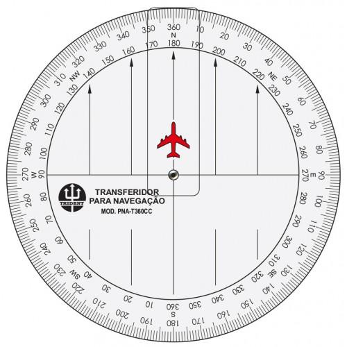 Transferidor Aeronáutico com Cursor