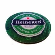 Kit 8 Porta Copo ou Bolacha de Chopp em Neoplex Personalizado - Marca Heineken