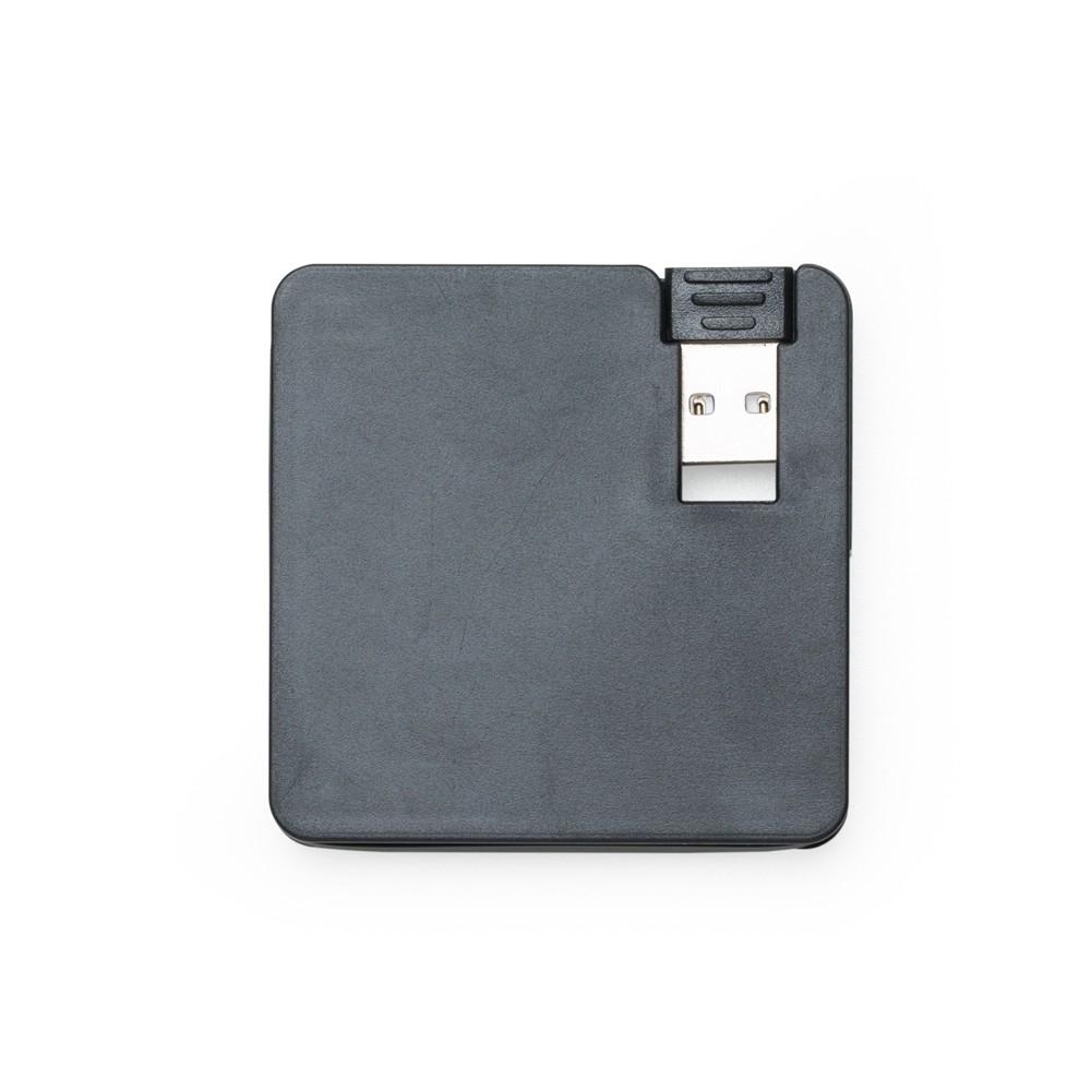Hub Plástico Quadrado com 4 Entradas USB