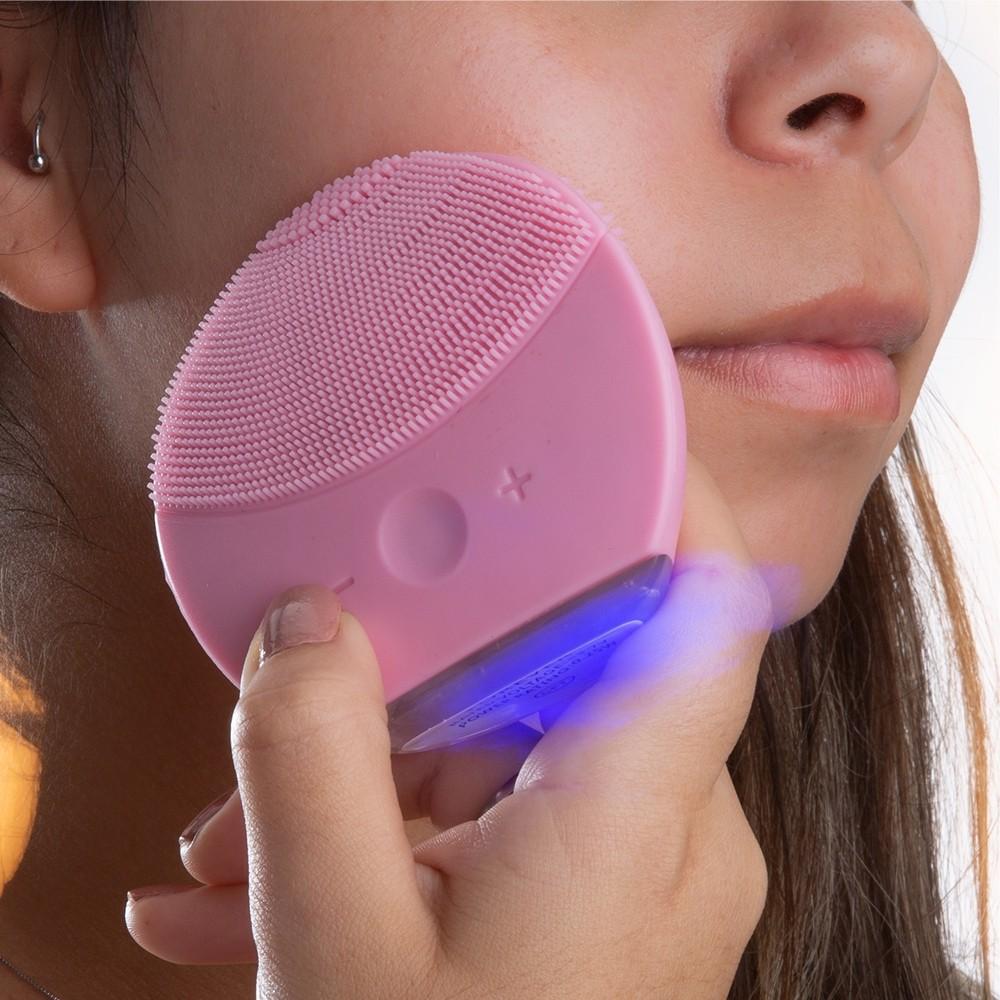 Massageador e Limpador Facial Elétrico