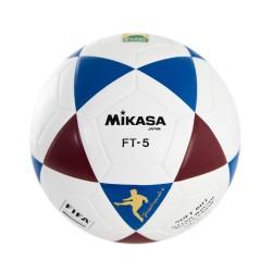 Bola Oficial de Futevôlei Mikasa FT-5 - Padrão FIFA Branco, Azul e Vinho