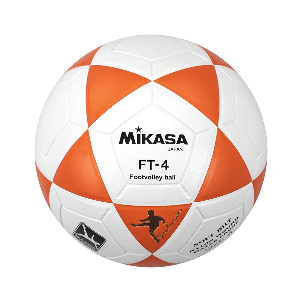 Bola de Futevôlei Mikasa FT-4 - Padrão FIFA Branca/Laranja