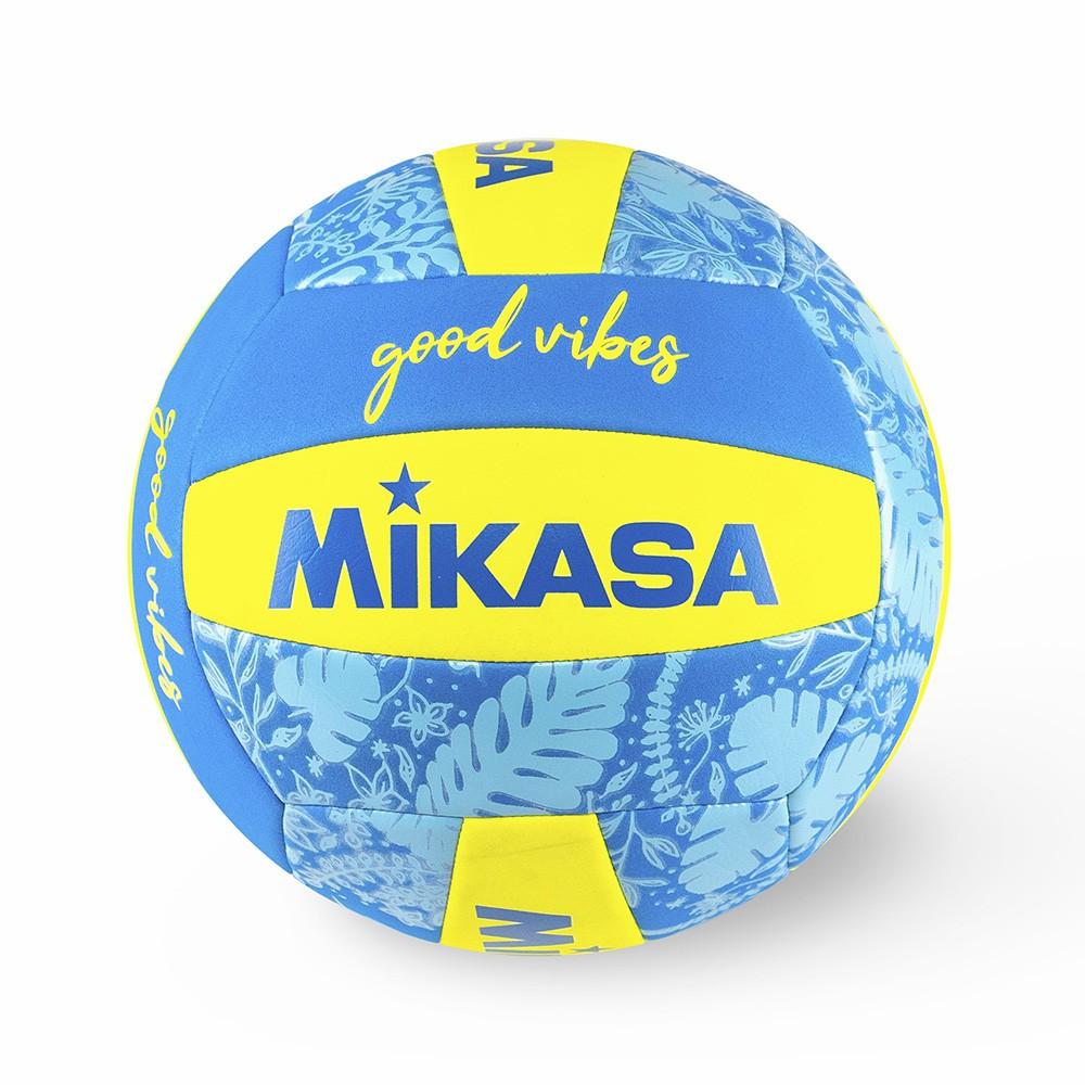 Bola de Voleibol Mikasa Good Vibes - Azul e Amarelo