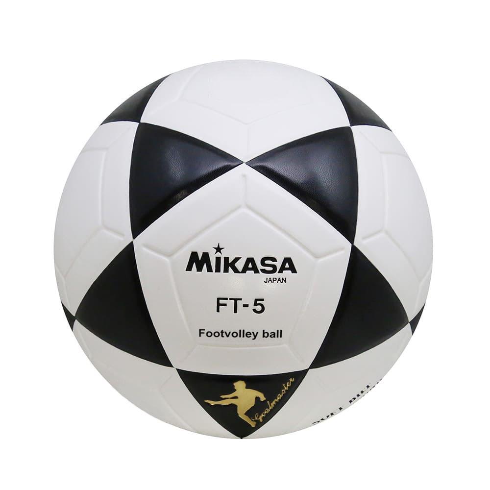 Bola Oficial de Futevôlei Mikasa FT-5 - Branca e Preta