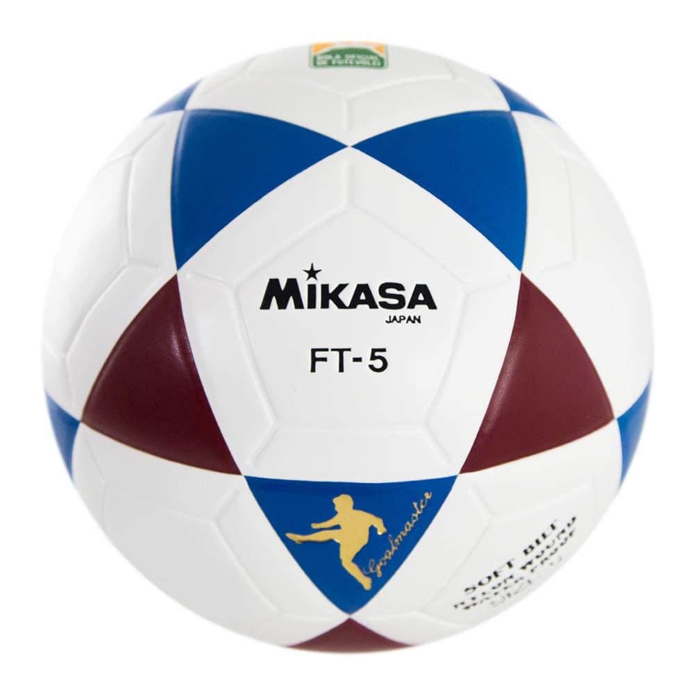 Bola Oficial de Futevôlei Mikasa FT-5 - Branco, Azul e Vinho