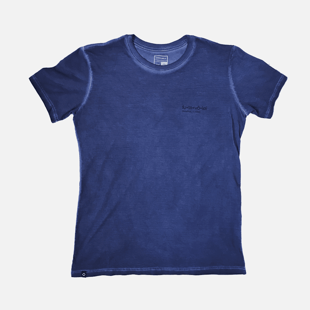 Camiseta Futevôlei Manga Curta Azul M