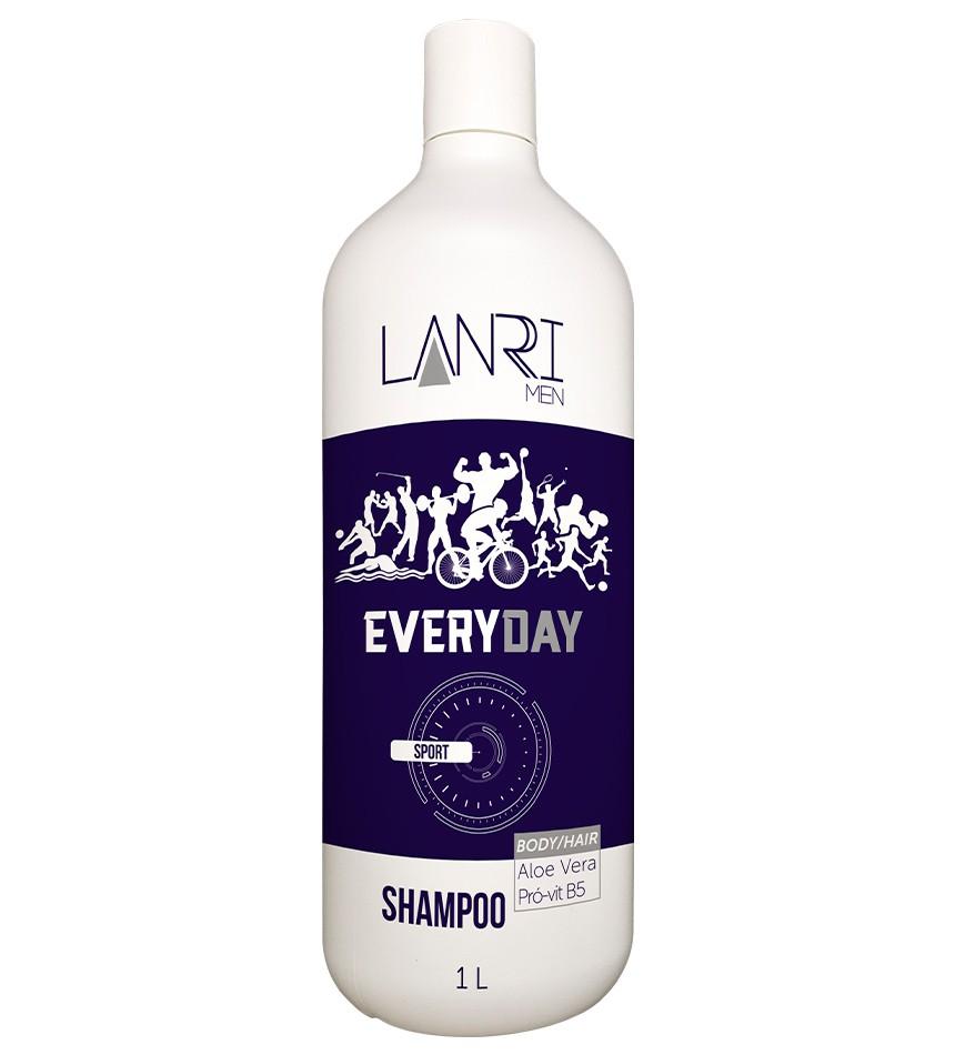 Shampoo Masculino  1 Litro  - Lanrri Men
