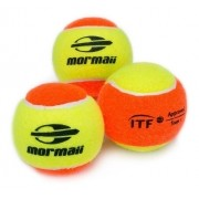 Kit Com 3 Bolas De Beach Tennis Mormaii Stage 2 Approv Itf