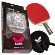 Raquete De Tenis De Mesa Butterfly Tbc 302 Clássica + Capa