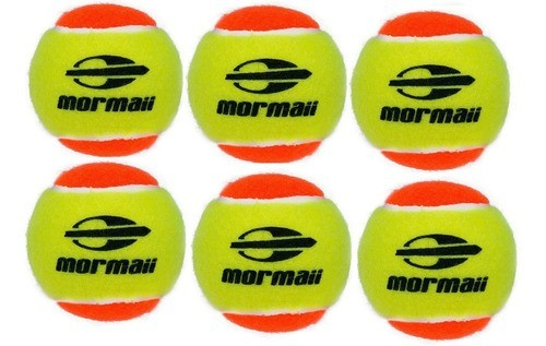 Kit Com 6 Bolas De Beach Tennis Mormaii