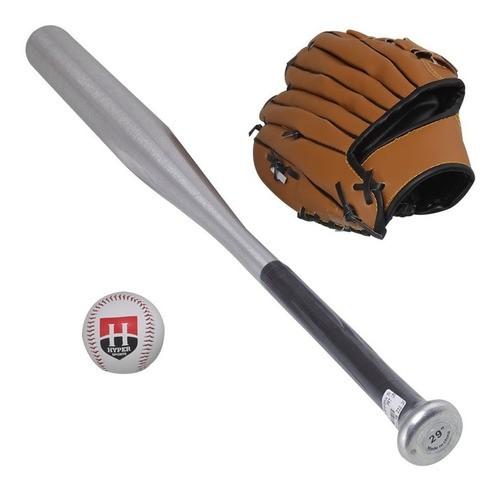 Kit Taco De Baseball De Aluminio Com Bola Luva