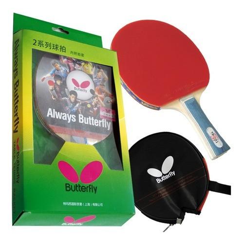 Raquete De Tenis De Mesa Butterfly Tbc 201 + Capa Clássica