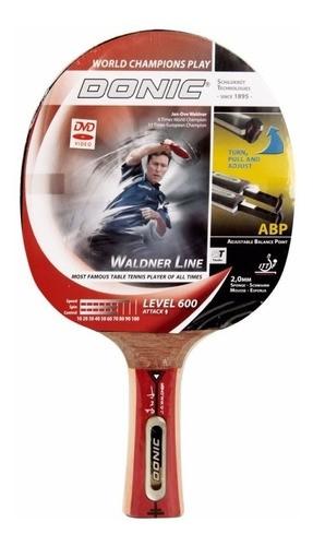 Raquete De Tênis De Mesa Donic Waldner Line 600 Com Dvd