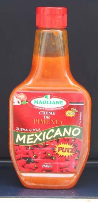 creme de Pimenta Mexicano Quema Guela Magliane 250ml cx 12