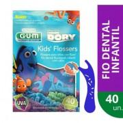 FIO DENTAL FLOSSER GUM PROCURANDO DORY C/40