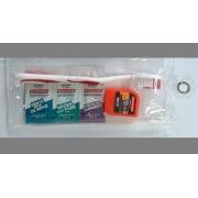 Kit Saúde Bucal Dental Clean Vermelho -10 kits