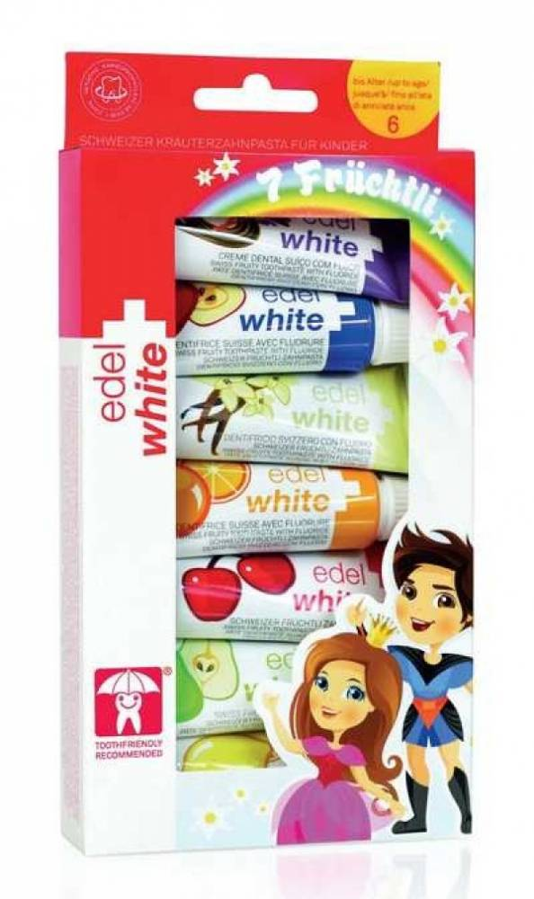 Creme Dental Fruchtli kids 7x 9,4ml Edel-White