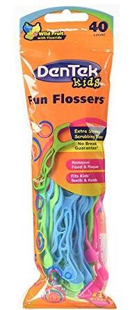 Dentek Kids Fun Flosser - Flosser Infantil - 40 unidades