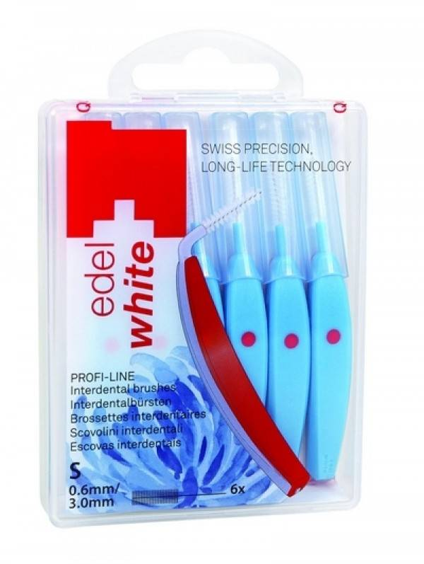 Escova Interdental Edel-White EW-ID6 -S - 3.0 mm, 0.6 mm - Azul